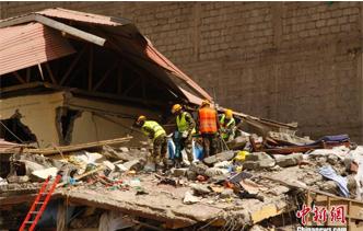肯尼亚首都内罗毕发展建筑坍塌事故(组图)