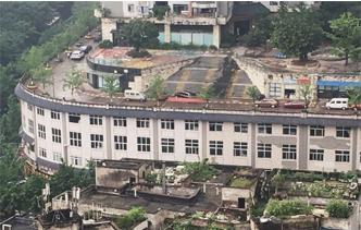 重庆又现神建筑 屋顶上竟然是马路(组图)